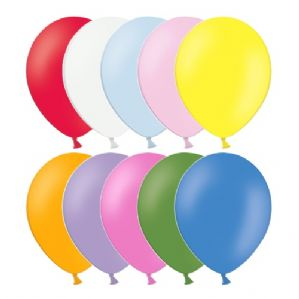 "10"" Assorted Bulk Balloons - 500pcs Latex Balloons Belbal 